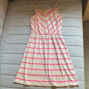 Pink Striped Sun Dress